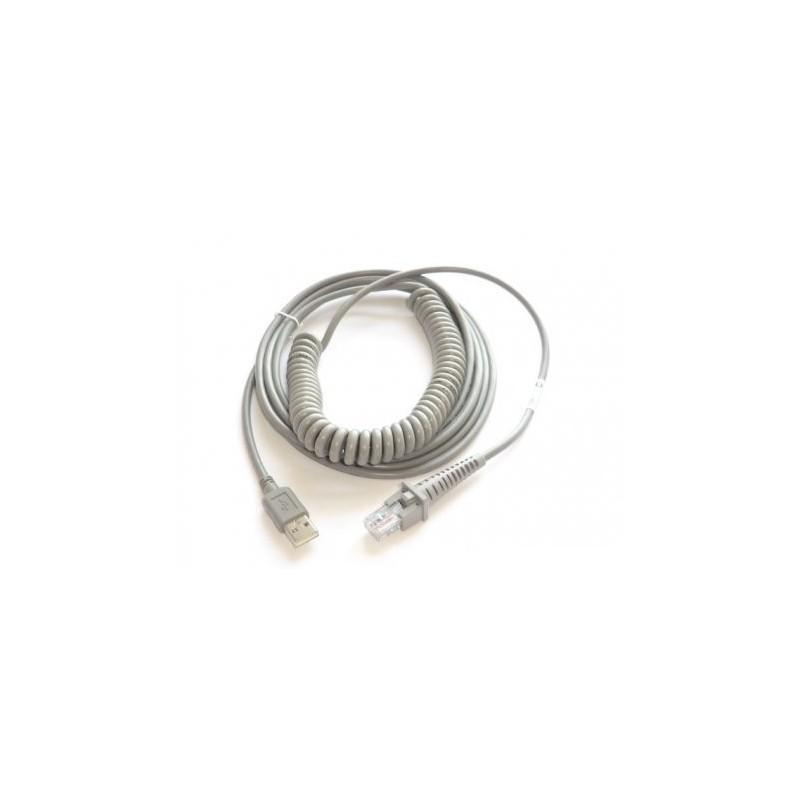 Kabel USB, sprężynowy do czytników Datalogic