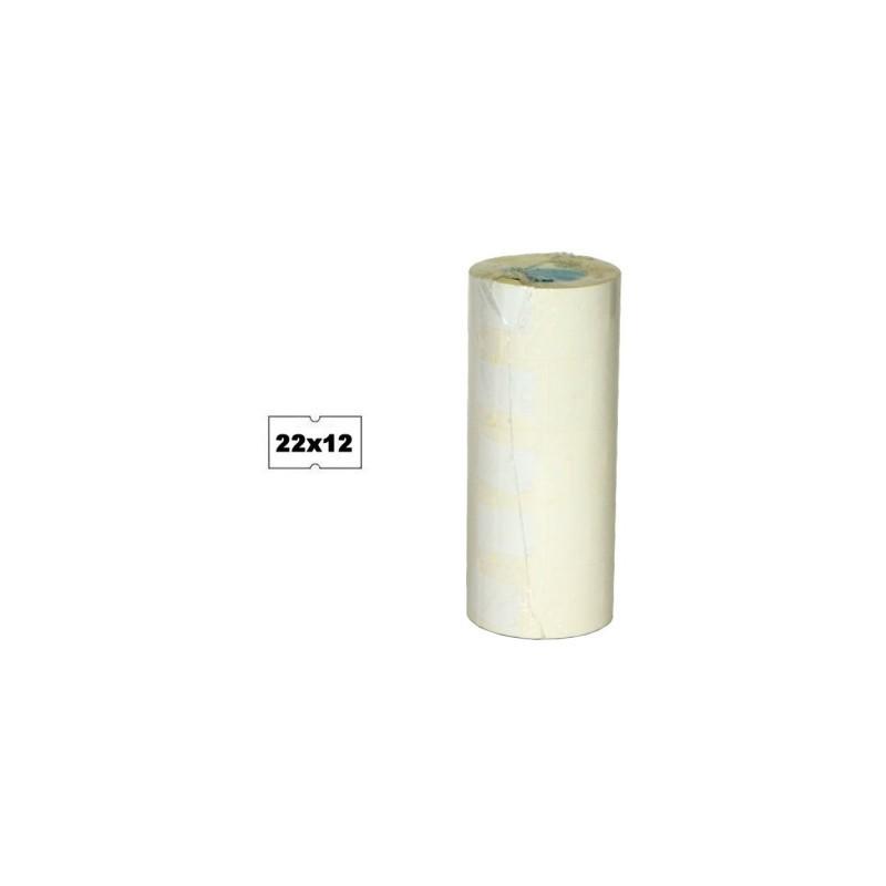 Metki białe 22x12mm do metkownicy MX 5500