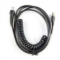 Kabel USB, czarny, 5m, sprężynowy do czytnika Datalogic