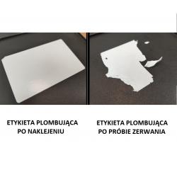 Etykiety foliowe plombowe (kruszące) 80x50 - 1000 szt.
