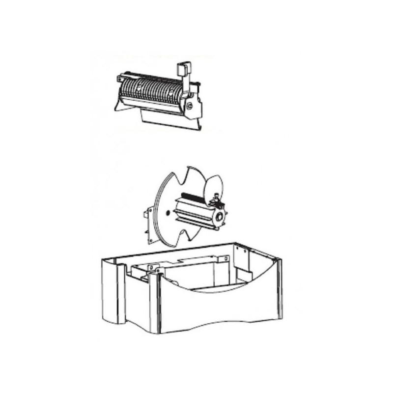 Wewnętrzny nawijak etykiet z dyspenserem (odklejakiem) do drukarki Zebra ZM400