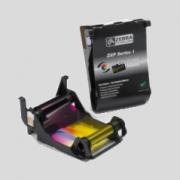 Taśmy barwiące i karty do drukarek kart plastikowych